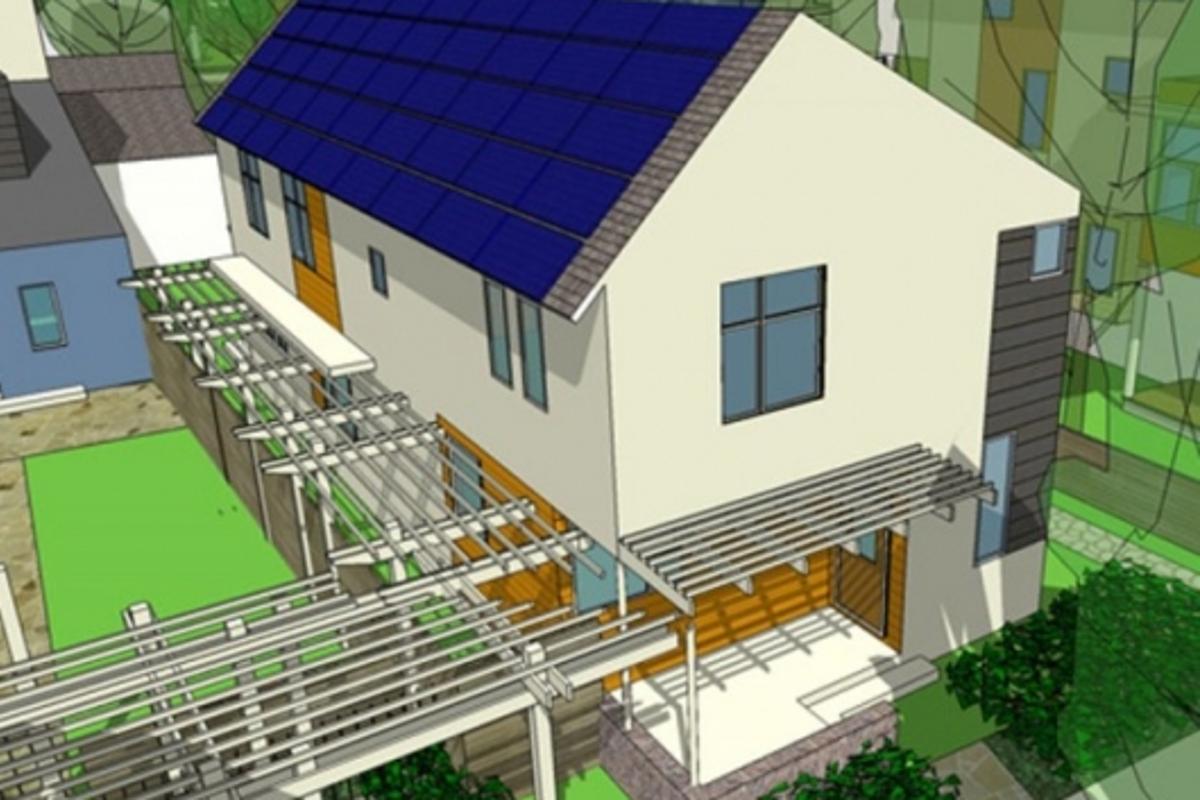 geos sustainable housing rendering