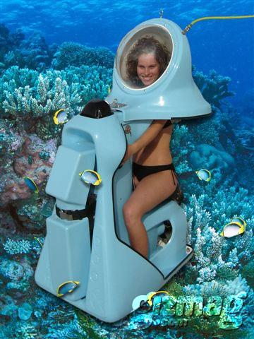 Bianca models the Scuba-Doo