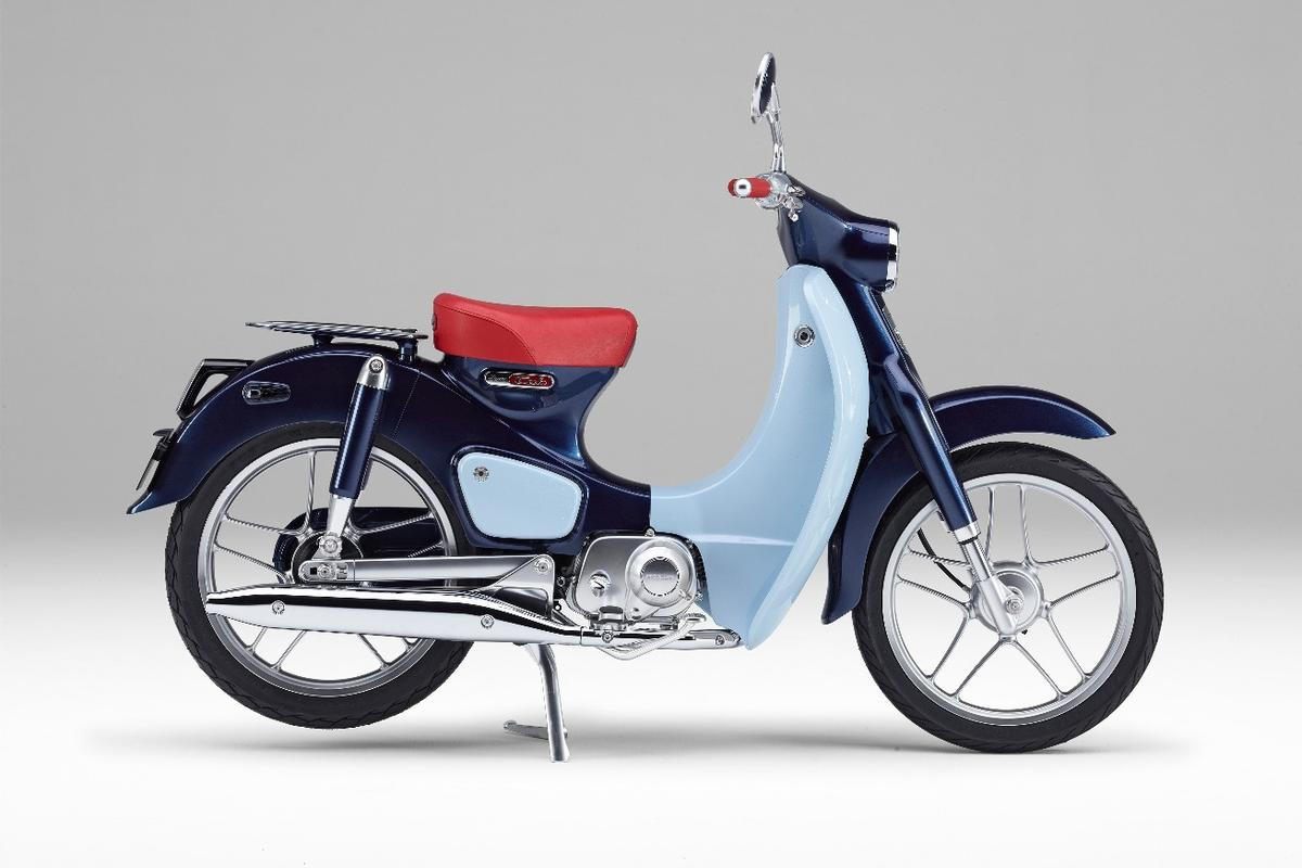 The Honda Super Cub Concept mimics even the original color scheme of the 1958 model