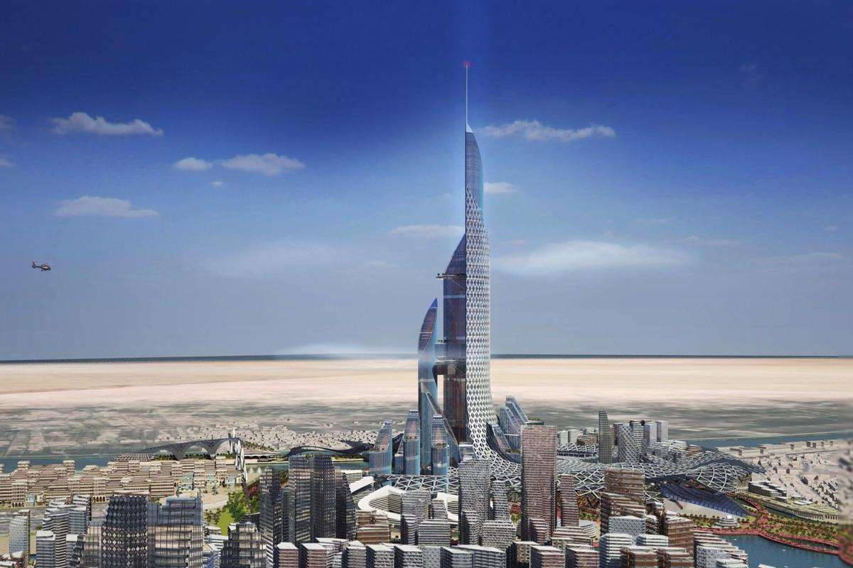The Bride will cover an area of 1,550,000 sq m (16,700,000 sq ft)