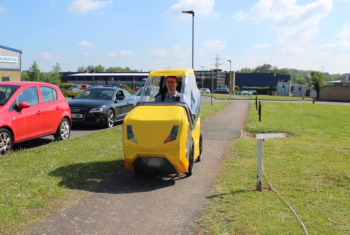DryCycle founder Andy Murphy, in one of his vehicles