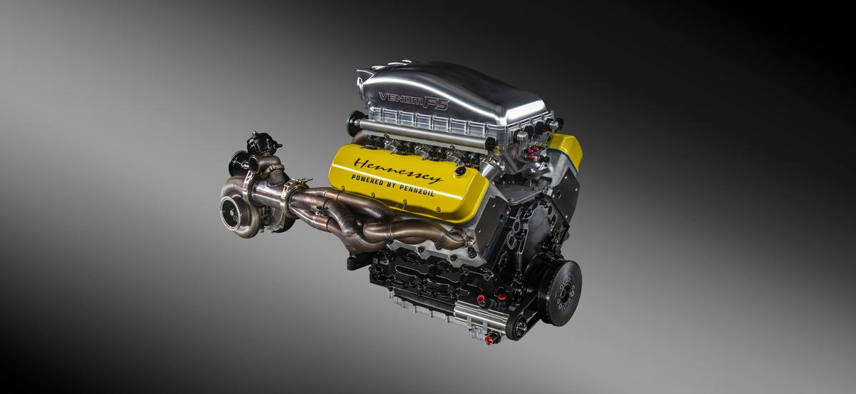 """Hennessey calls this engine the """"Fury,"""" and has dyno tested it at more than 1,800 horsepower"""