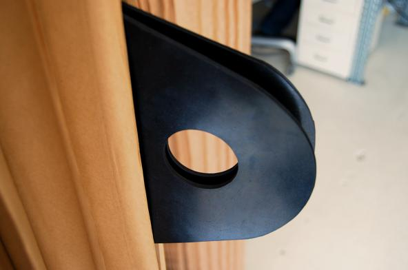 Rubber door handle prototype (Image by Molo Design)