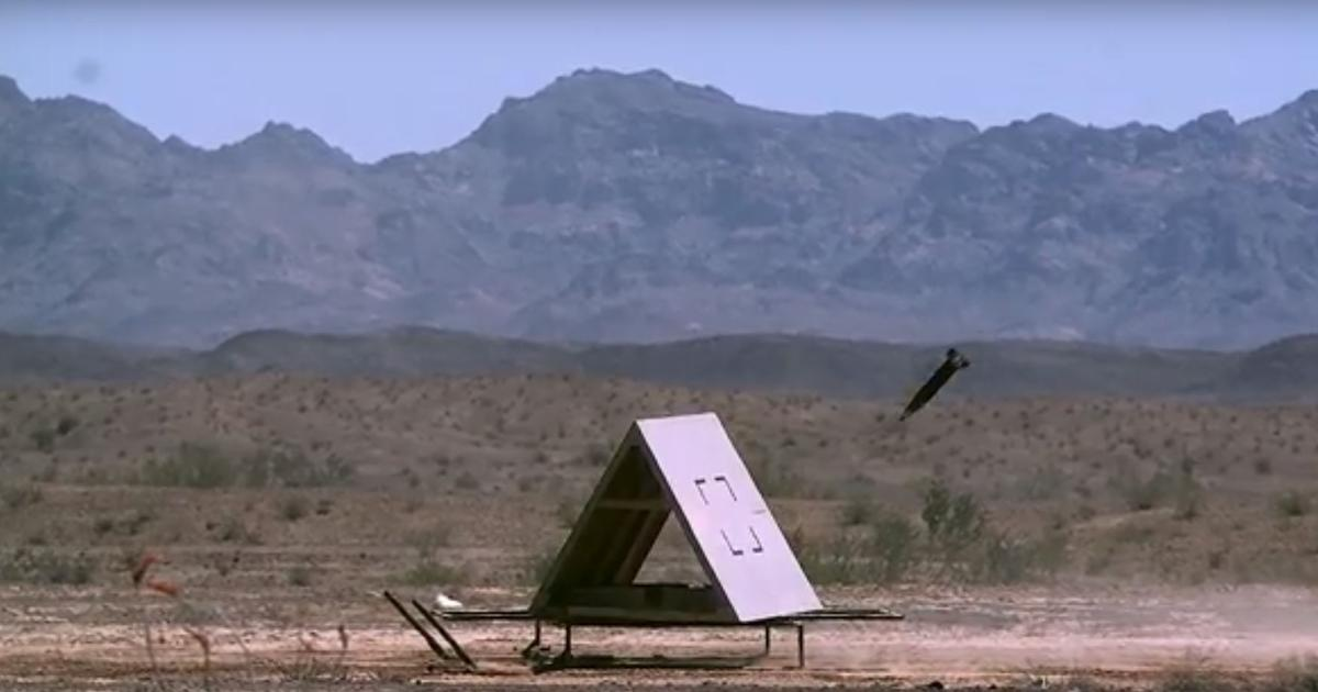 Excalibur S GPS/laser-guided artillery shell homes in on moving target