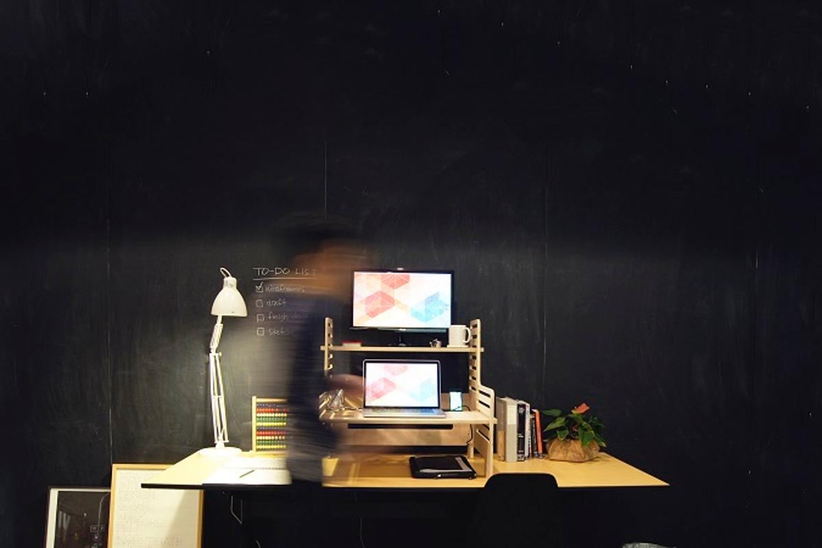 The UpStanding Desk is a simple and affordable way of switching from sitting to standing while at work
