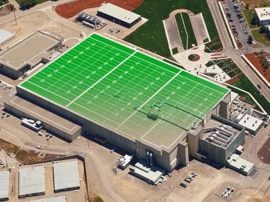Three football fields could fit inside the NIF Laser and Target Area Building. Photo: NIF