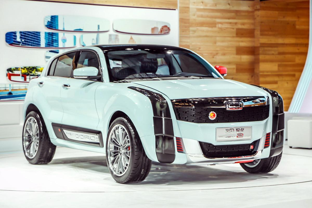 The Qoros 2 SUV PHEV Concept that debuted at Auto Shanghai 2015