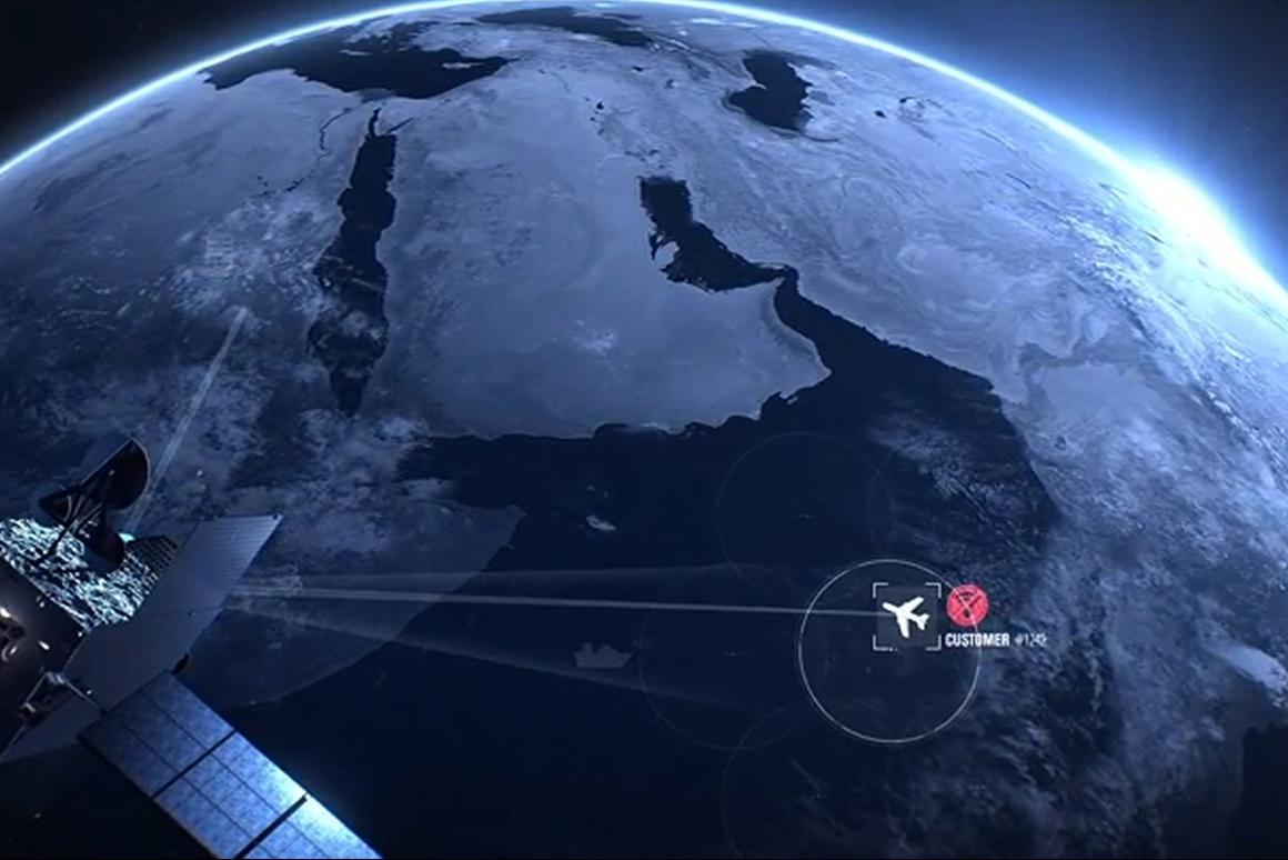 Inmarsat is to launch a satellite to provide in-flight broadband services across the EU, similar to its Global Xpress service shown here