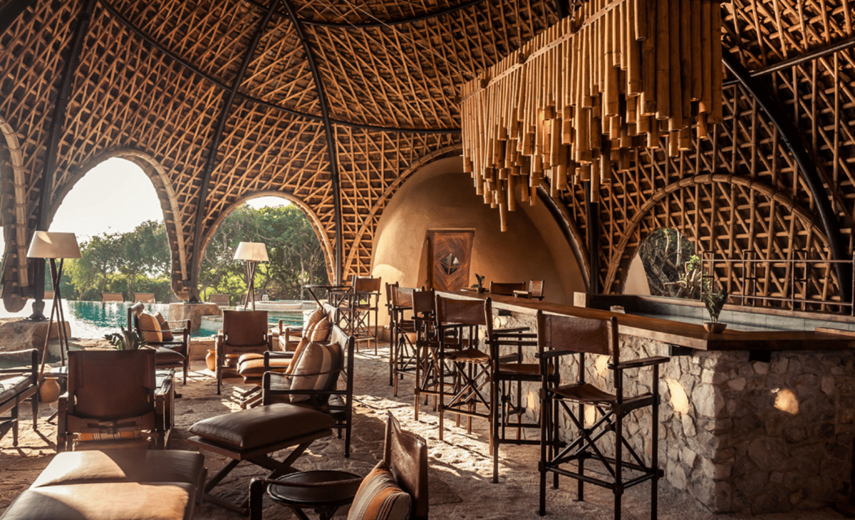 The Wild Coast Tented Lodgein Sri Lanka earned aSpecial prize for an Exterior in the restaurants category at the 2018 Prix Versailles World Architecture Awards