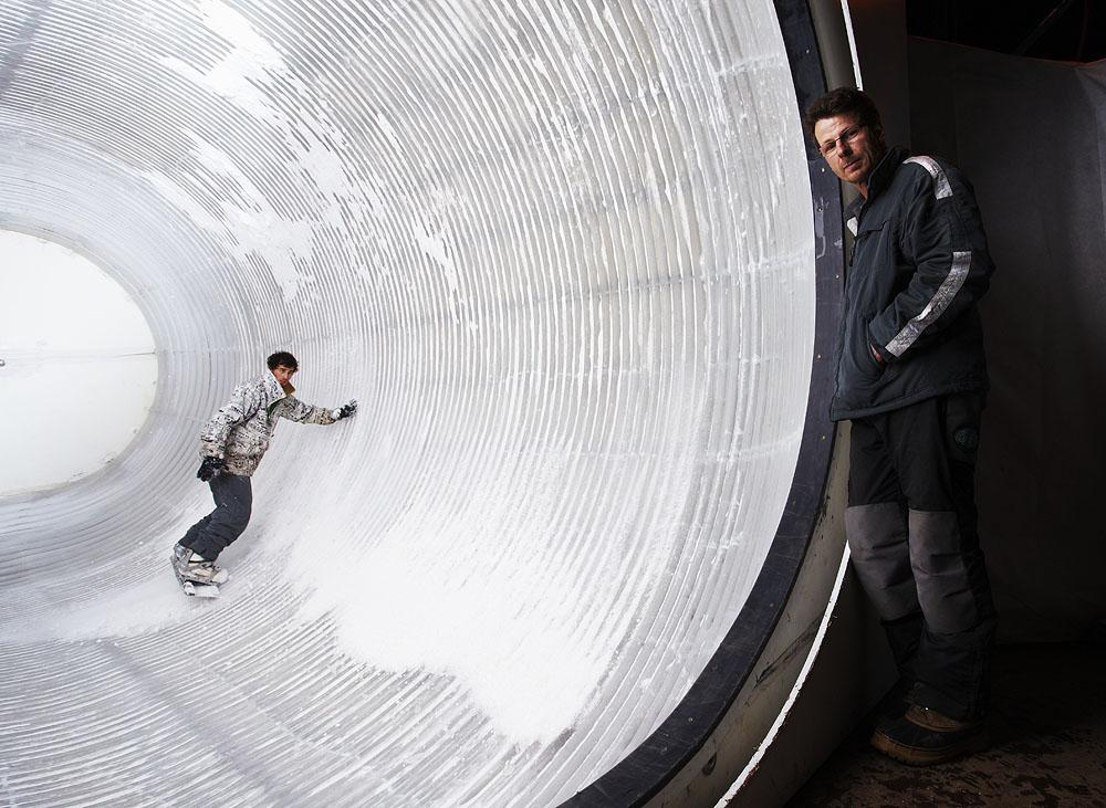 The Snowtunnel - an indoor snowboarding experience.