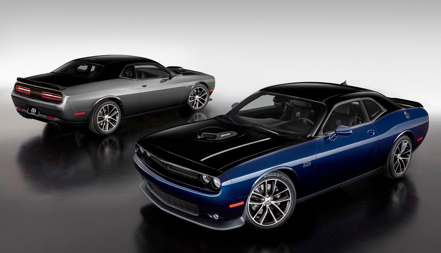 The MoparDodge Challenger is available in two different paint schemes