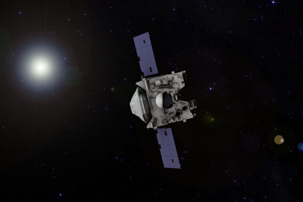 Artist's impression of the spacecraftOSIRIS-REx