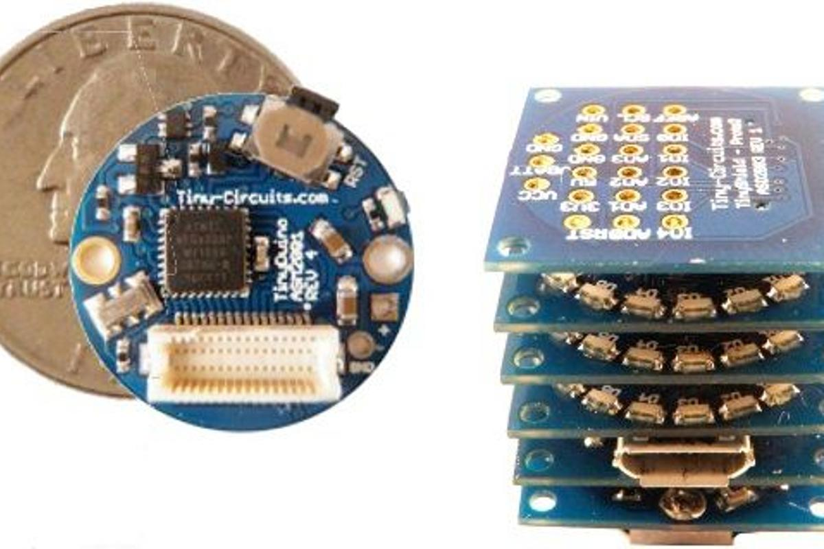 Both the TinyDuino and TinyLily Mini are significantly smaller than, but compatible with, existing Arduino models