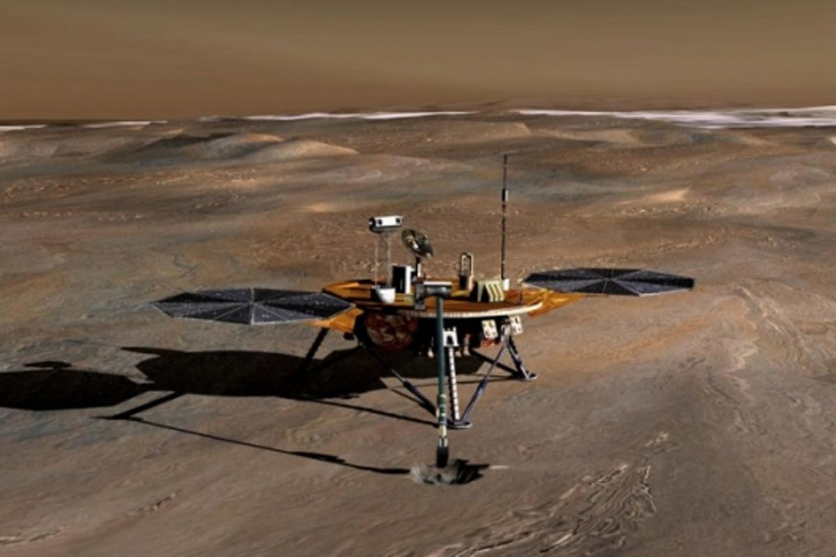 Artist's impression of NASA's Phoenix Mars LanderImage credit: NASA/JPL