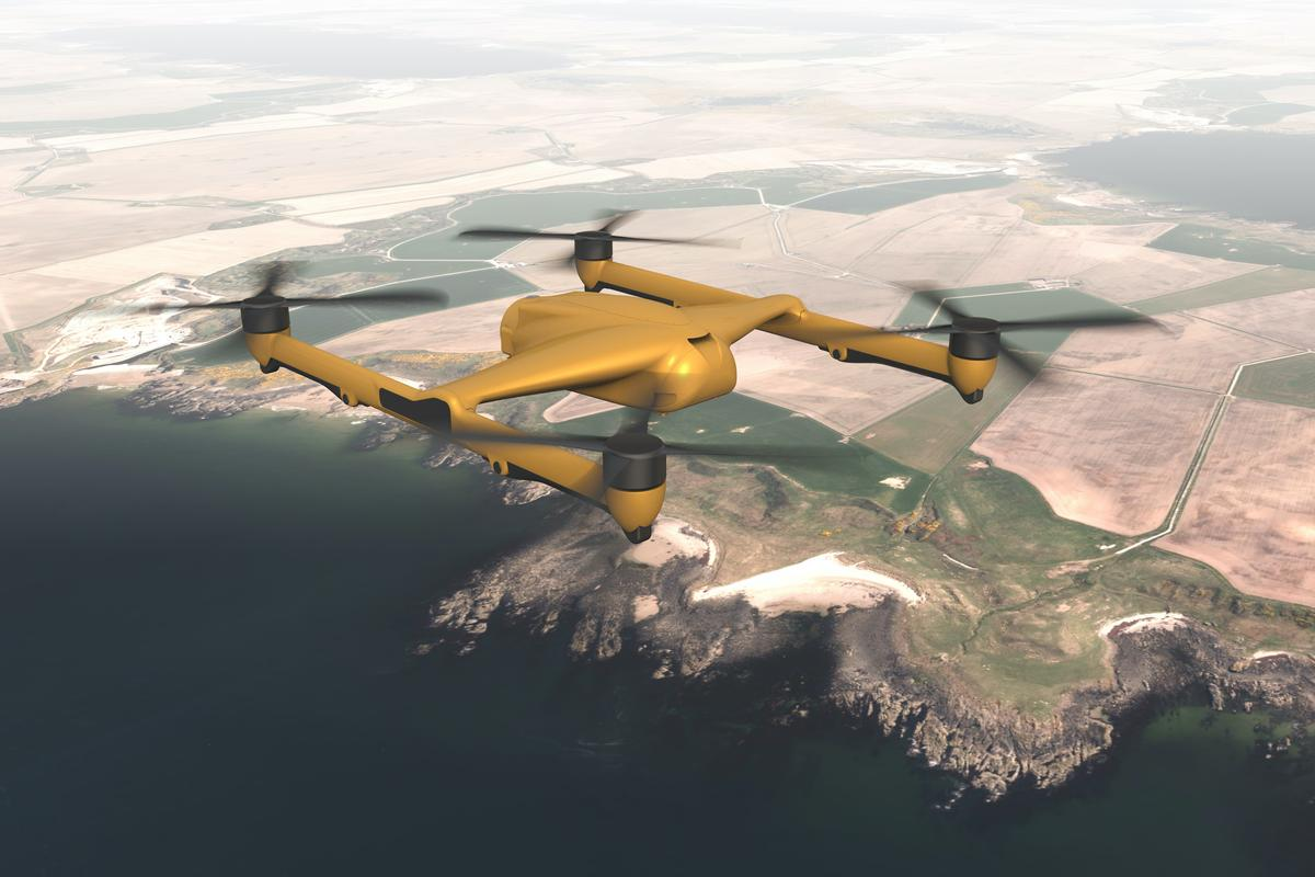 A rendering of the proposed T-650 drone – there's no word on how likely it is to actually enter production