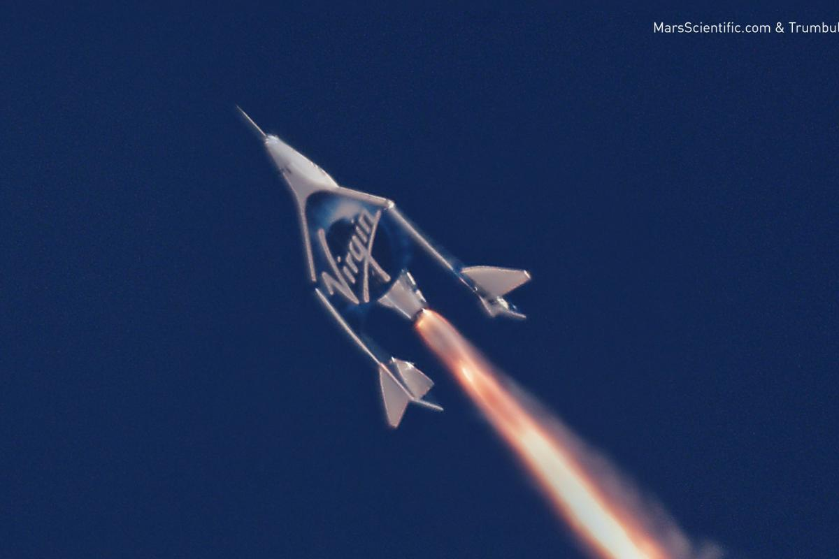 Virgin Galactic's spaceplane in action