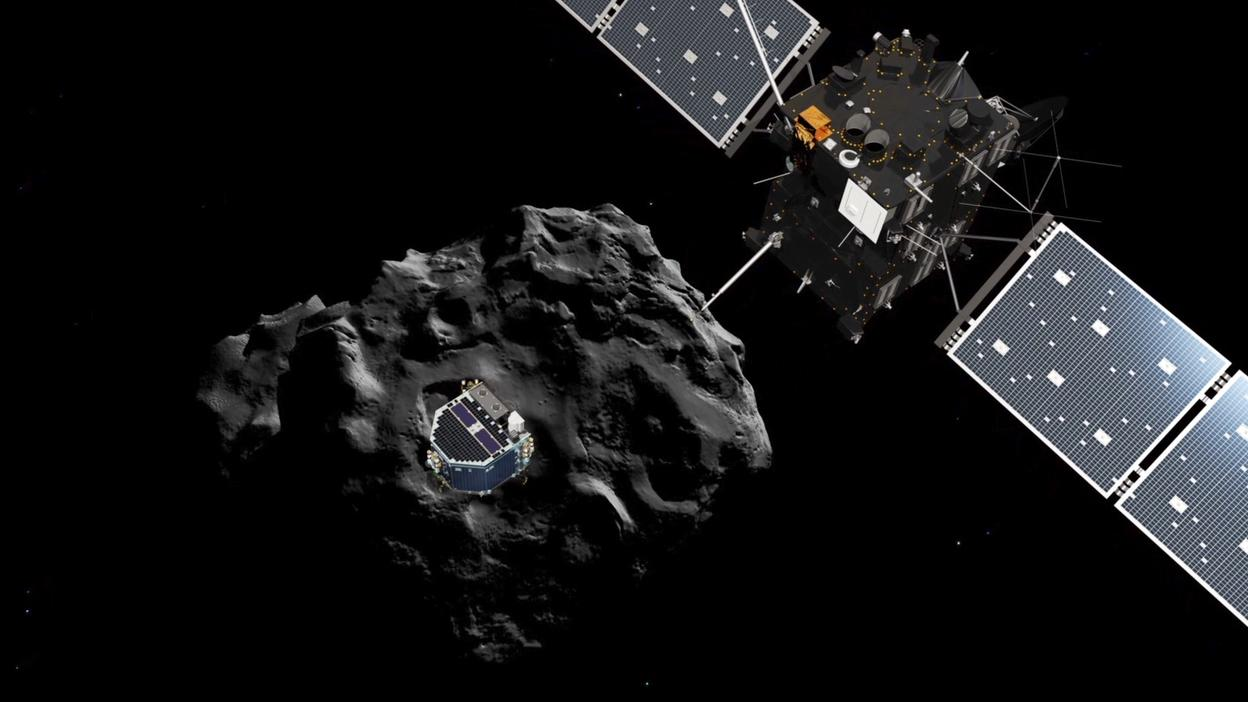 Artist's impression of Philae separating from Rosetta (Image: ESA)