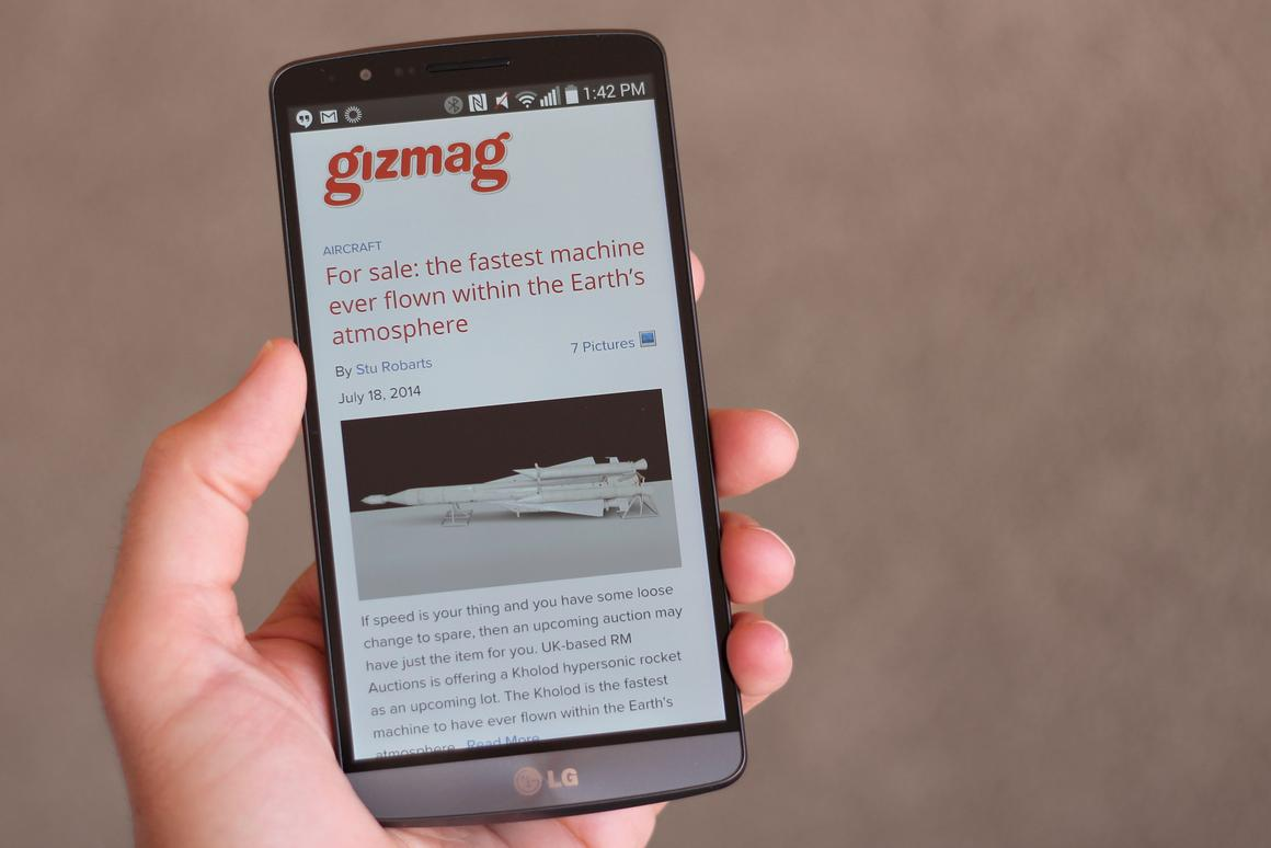 Gizmag reviews the LG G3, easily one of the best smartphones of 2014