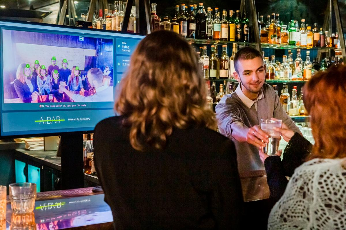 The A.I. Bar system has been trialed at a London cocktail bar, and is being rolled out to landlords as a software-as-a-service product