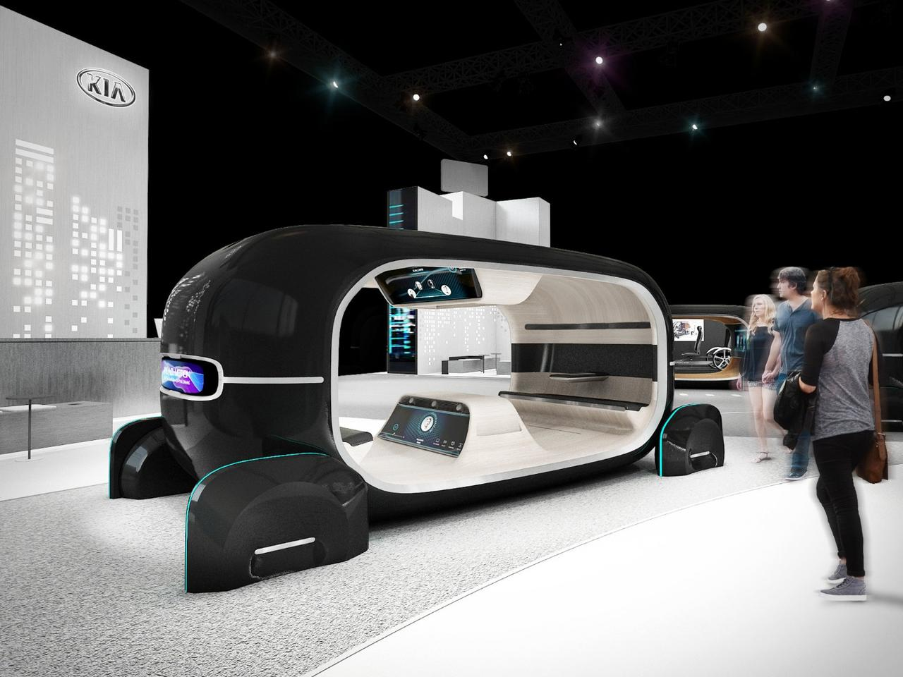 Kia's CES display focuses on tracking and managing passenger's emotions in future autonomous vehicles