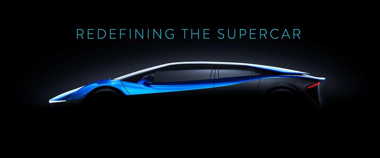 Elextra teases its super-quickfour-seat, four-door electric sedan