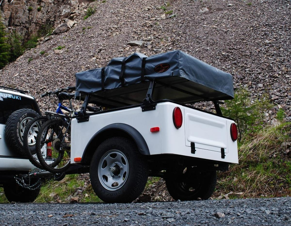 The Dinoot Trailer is a modular camping and gear hauling trailer
