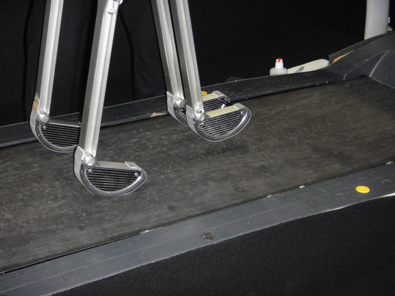 The biped walks on a treadmill (Photo: Diginfo.tv)
