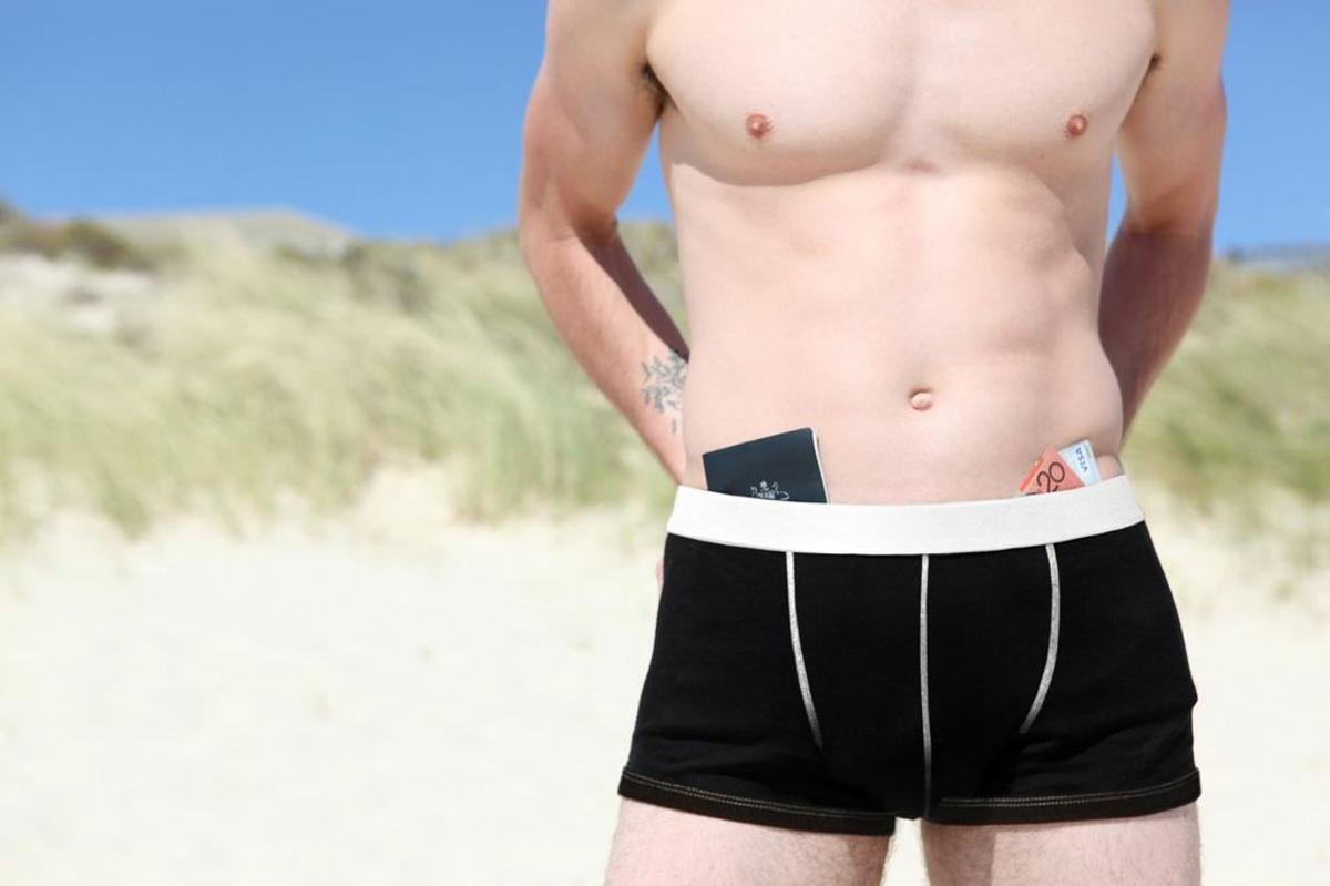 Adventure Underwear offers security for travelers, who can keep their valuables in their underpants