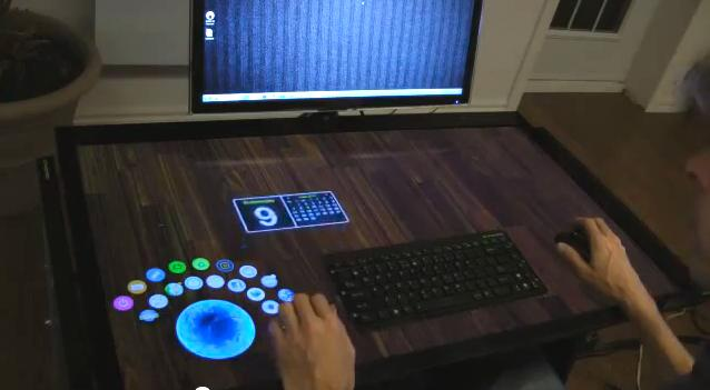 ExoPC has posted a video of its new 40-inch multi-touch desk on YouTube