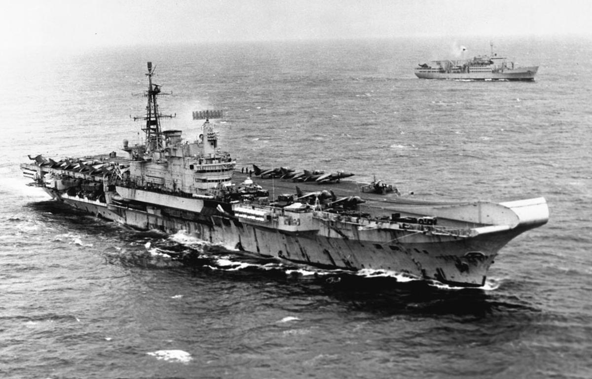 HMS Hermes may have been one of the ships equipped with a laser weapon (Photo: Royal Navy)