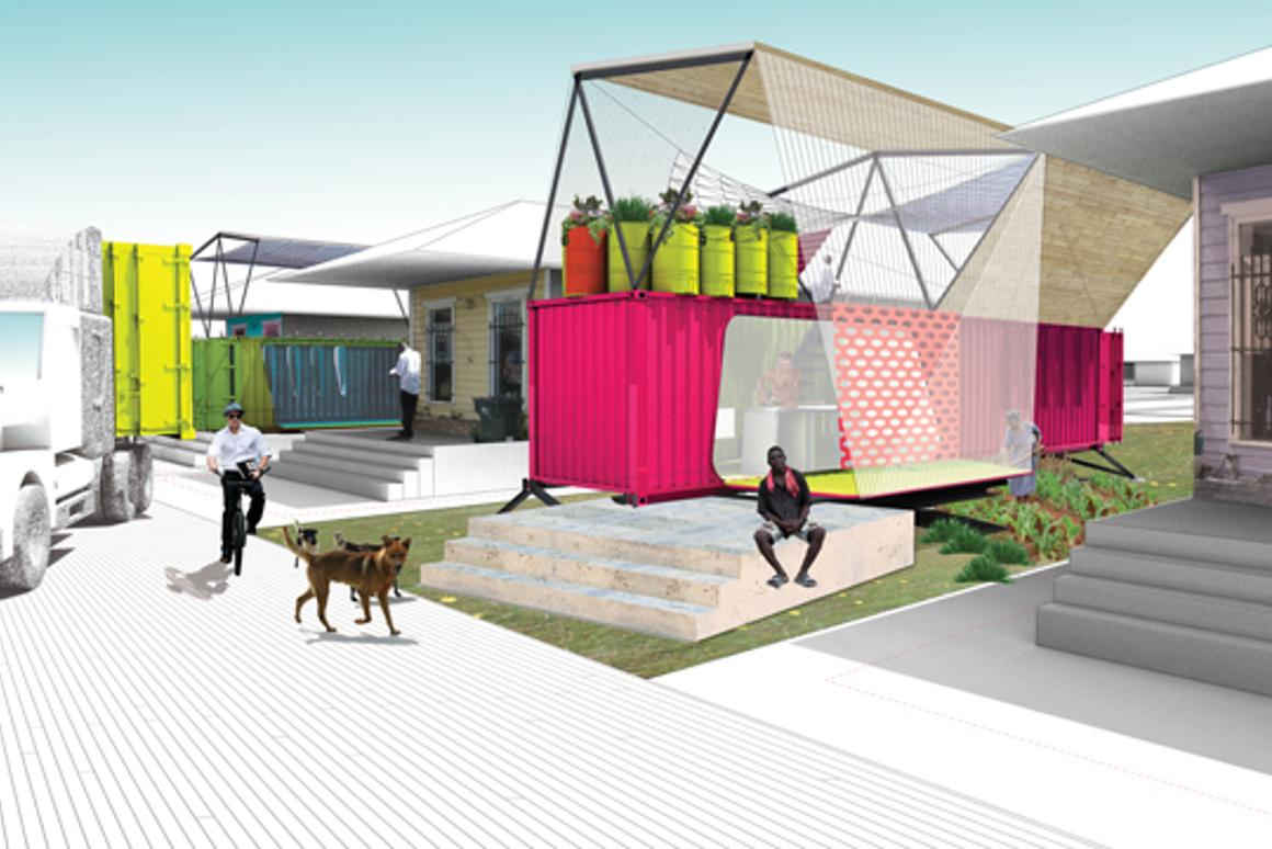 The SEED Project is developing a method to convert unused shipping containers into sustainable emergency housing for disaster affected areas(Image: Clemson University)
