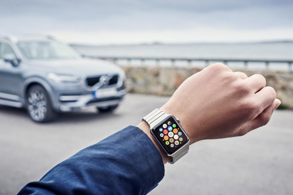 Volvo has joined VW and BMW in offering an app for wearables such as Apple Watch and Android Wear