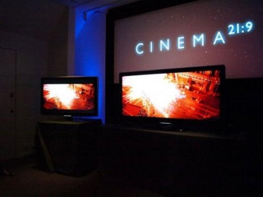 The Philips Cinema 21:9 LCD TV.Pic: SlashGear.