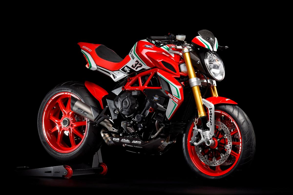 The 2018 MV Agusta 800 RC is a limited variant of the Dragster series