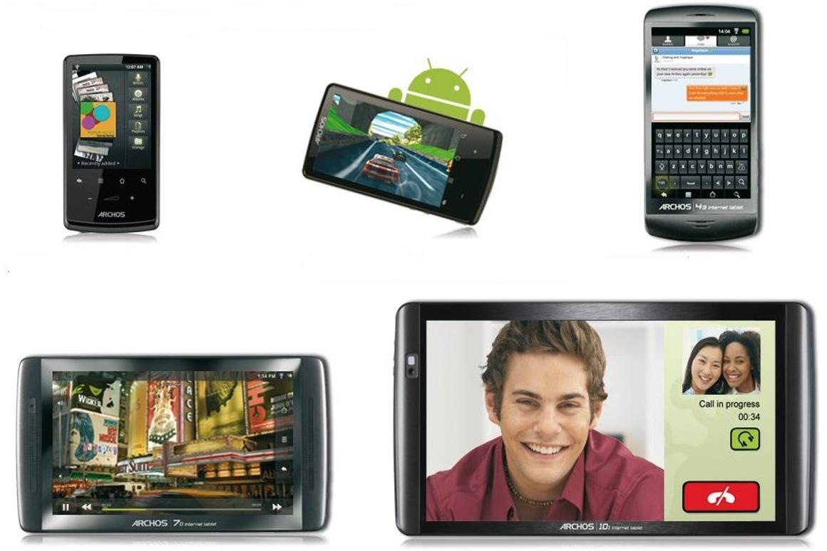 ARCHOS has unveiled five new Android tablets with screen sizes ranging from 2.8-inches (71mm) diagonally across to 10.1-inches (257mm)