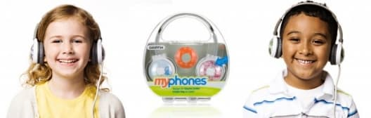 MyPhones headphones come with a handy carry case