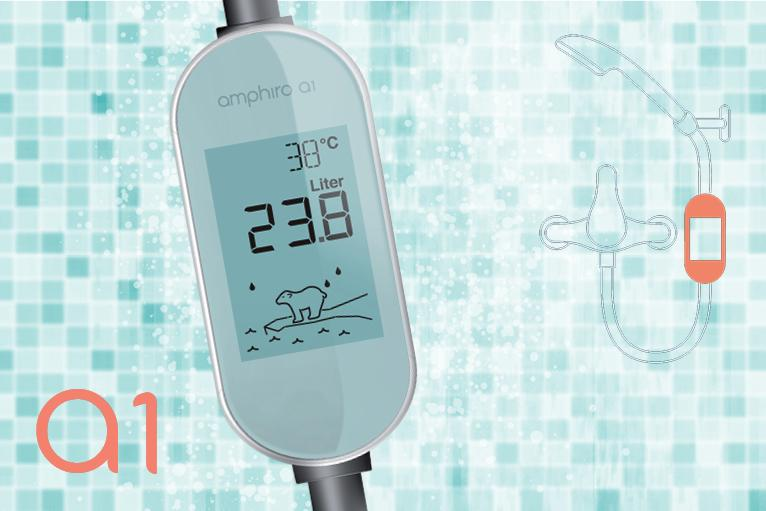 Amphiro's a1 self-powered water and energy meter puts water and energy consumption in the shower