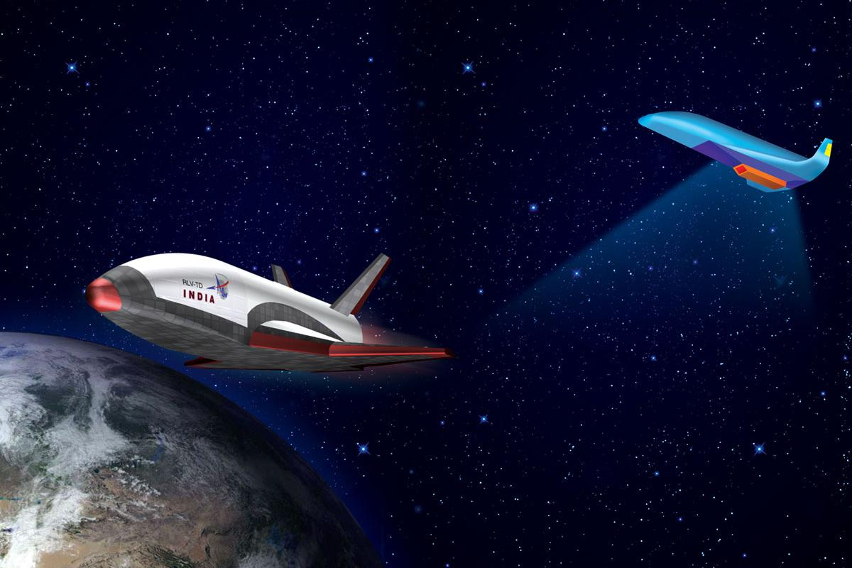 Artist's concept of the RLV-TD spaceplane