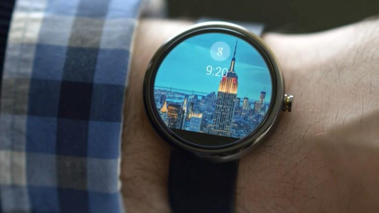 How an Android Wear clock screen might look