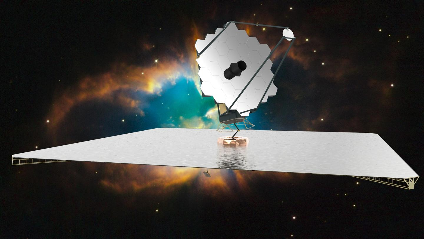 Artist's impression of the Hubble/James Webb successor, the ATLAST space telescope (Image: NASA)