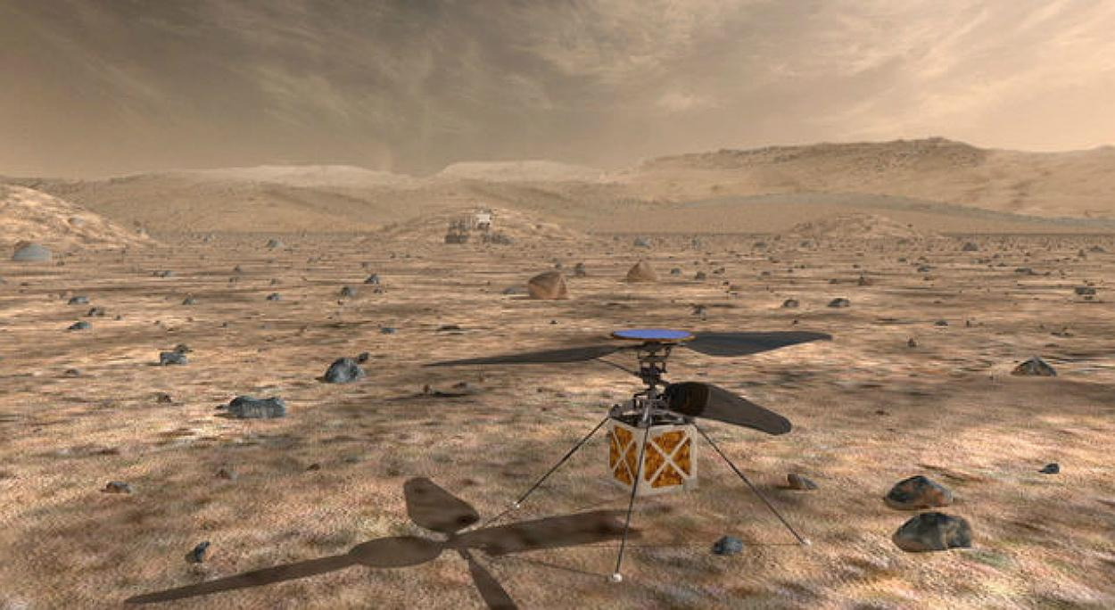 NASA's Mars Helicopter will travel with the agency's Mars 2020 rover