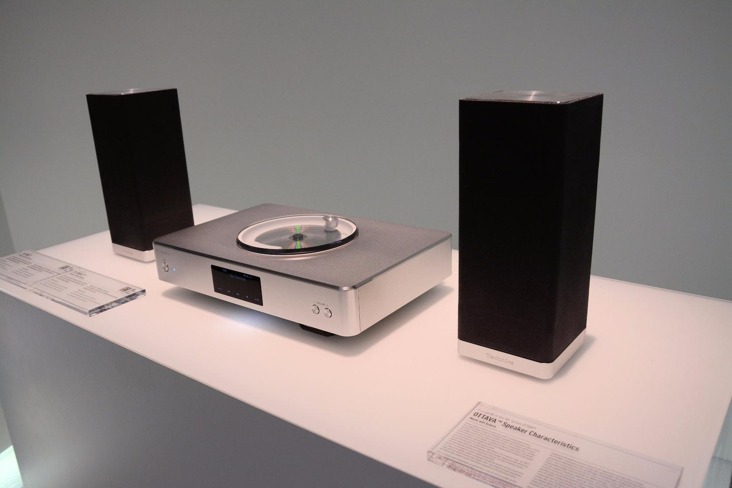 Designed to complement the living room, the Technics Premium Class SC-C500 all-in-one hi-fi system has a high end look