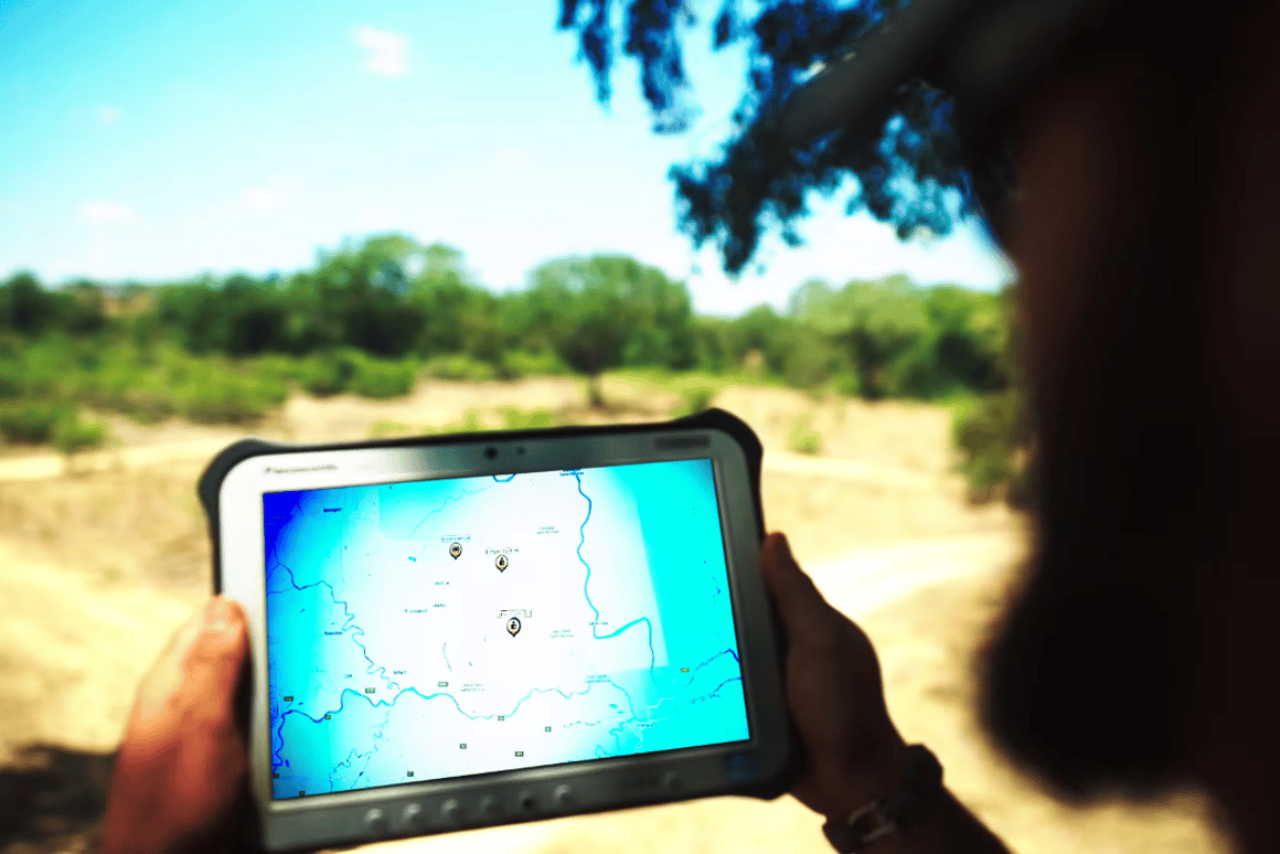 The first stage of the Connected Conservation initiative involved installing an area network along with Wi-Fi hotspots at strategic points to connect the rangers