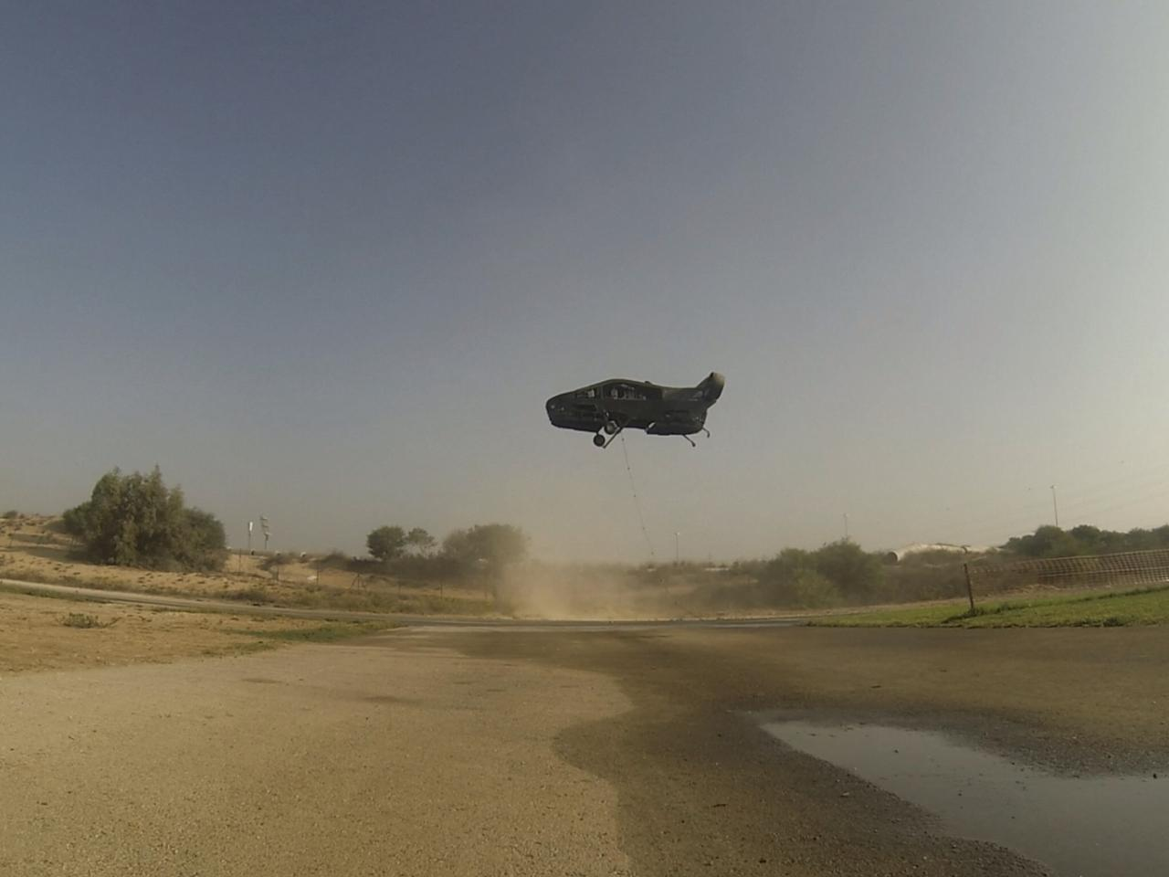 The AirMule performs a 180-degree turn