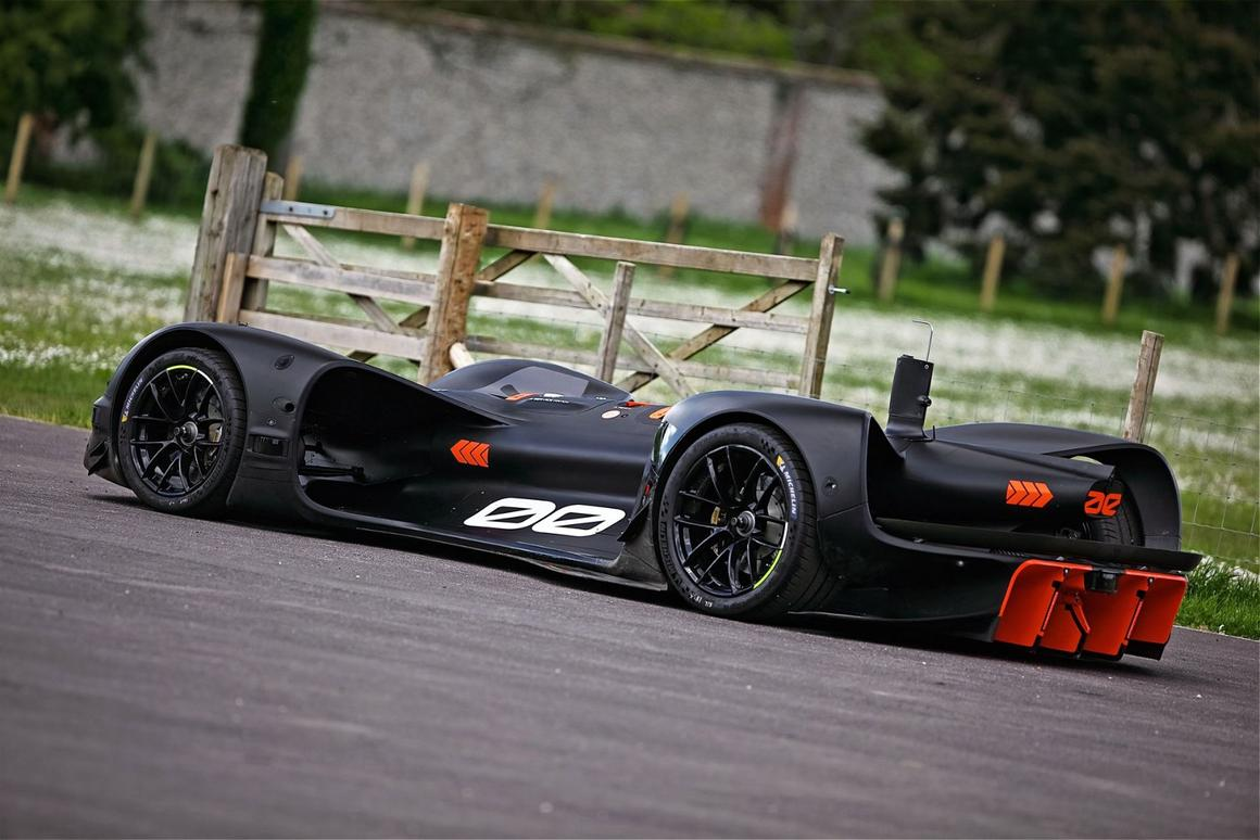 The Roborace Robocar has become the first autonomous race car to complete the hill climb at the Goodwood Festival of Speed