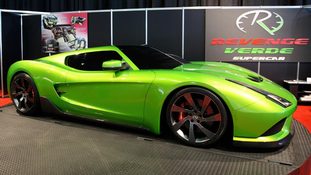 The Revenge Verde supercar that offers a fuel efficient HP2g engine