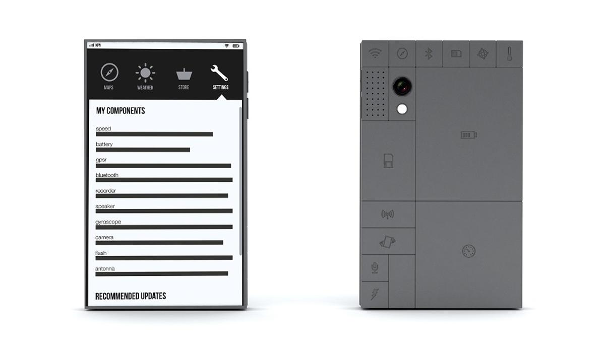 Phonebloks is a conceptual smartphone comprising modular components chosen by the consumer