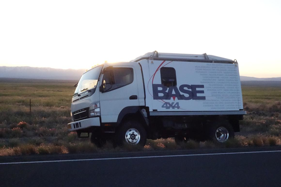 Base 4x4 expedition truck provides a rugged base camp for