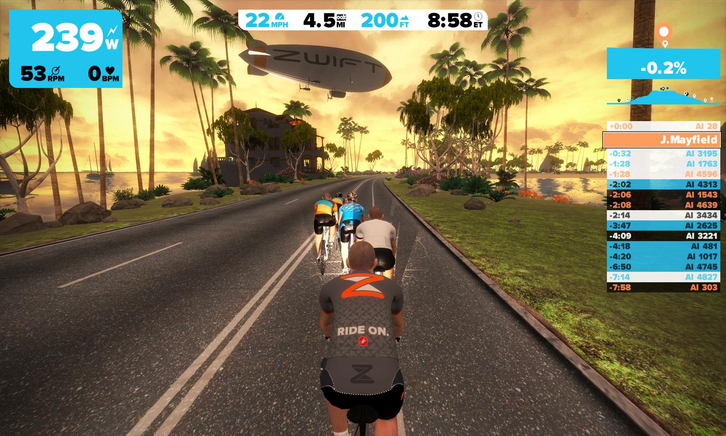 It might not be the actual open road, but staring at a Zwift world like this might beat just watching a TV while you train this winter