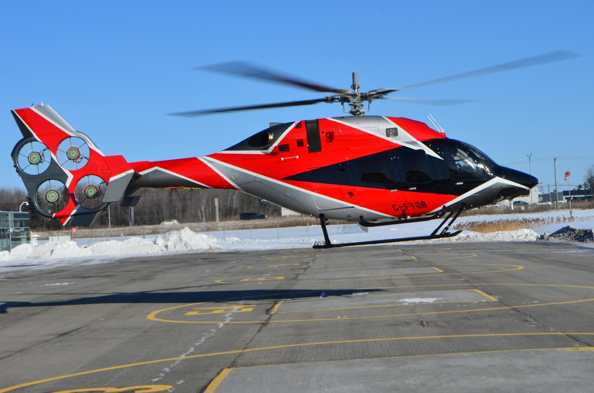 The Bell EDAT demonstrator helicopter made its first flight last May